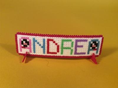Como hacer el nombre de  ANDREA KAWAII con Hama Beads mini fácil y sencillo paso a paso en Español.