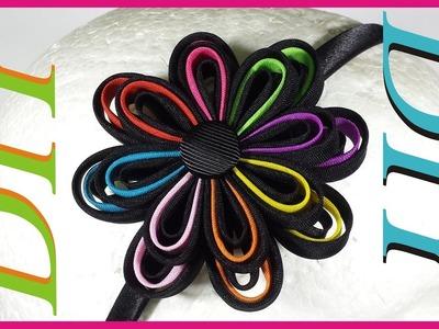 Como Hacer Lazos DIY #23 Flor de Biez en Cintillo
