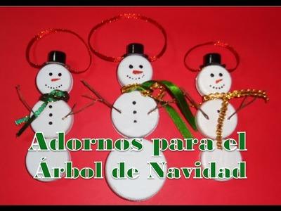 Como hacer muñecos de nieve para el Árbol de Navidad (Facil y economico)