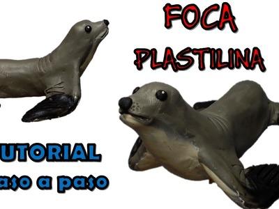 Como hacer una foca de Plastilina. How to make a seal with clay