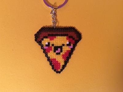 Como hacer una PIZZA KAWAII con Hama Beads mini fácil y sencillo paso a paso en Español.
