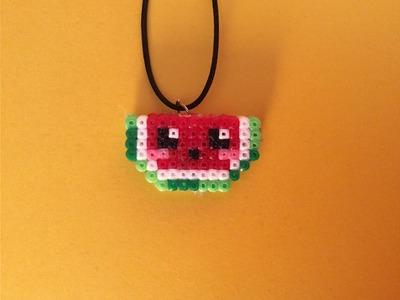 Como hacer una Sandia Kawaii con Hama Beads mini fácil y sencillo paso a paso en Español.