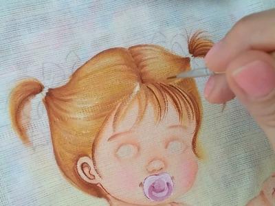 Como pintar cabelo amarrado| Márcia Suelí - Cantinho de Pintura