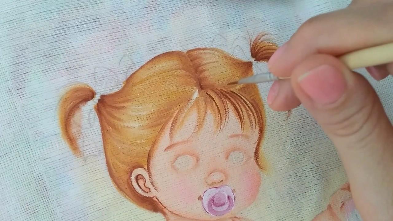 Como pintar cabelo amarrado  Márcia Suelí - Cantinho de Pintura