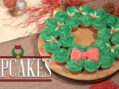 ¿Cómo preparar Corona Navideña de Cupcakes? - Cocina Fresca