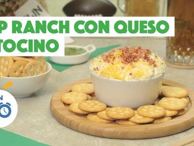 ¿Cómo preparar Dip Ranch Con Queso y Tocino? - Cocina Fresca