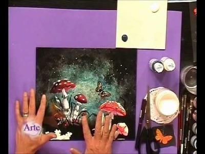 Cómo usar distintos materiales en la creación de un cuadro