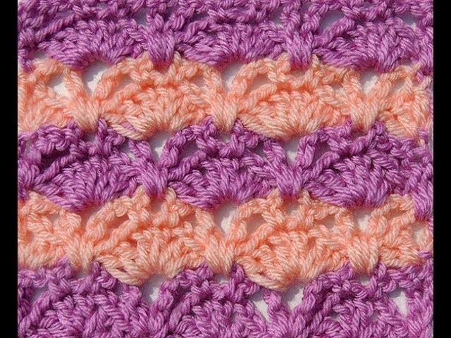 Crochet: Punto Combinado en Dos Colores # 7