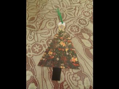 DIY Navideño Cómo hacer un marca páginas de Arbolito de Navidad.Regalos