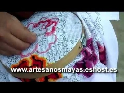 Elaboracion de Guipiles, trajes tipicos, manteles - Artesanos MAYAS