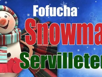 Fofucha Muñeco de Nieve Servilletero - Snowman Napkin Ring
