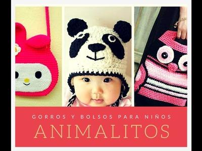 Galería: Gorros y Bolsos de Animalitos para Niños a Ganchillo