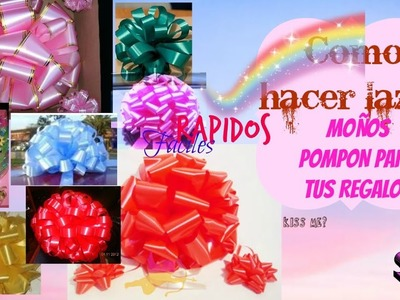 Lazos moños pompon para regalos Puffy - How to: Gift Bows