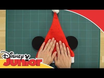 Manualidades de Navidad: Tutorial - Gorro de Navidad de Mickey | Disney Junior Oficial