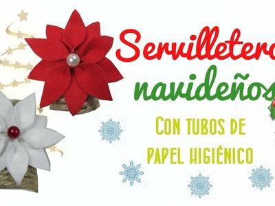 MANUALIDADES FÁCILES DE NAVIDAD - MANUALIDADES DIY RECICLANDO TUBOS DE CARTÓN