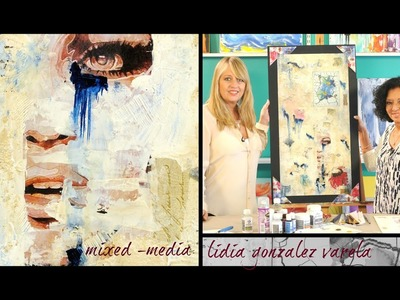 Mixed Media - Decoupage - Cuadro con tecnicas Mixtas -