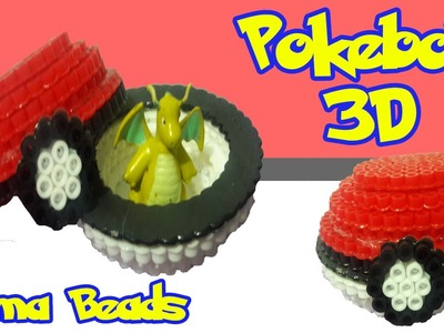 Pokebola 3D hama beads