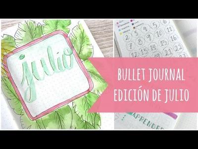 Preparando mi Bullet Journal para julio. Páginas y colecciones del mes