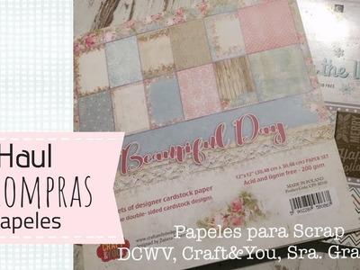 Selección de papeles de scrap, Craft&You, DCWV , Sra Granger