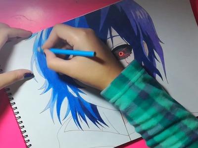 Speed Drawing - Ayato & Touka Kirishima (Tokyo Ghoul)