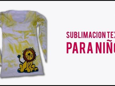 Sublimación textil para niños