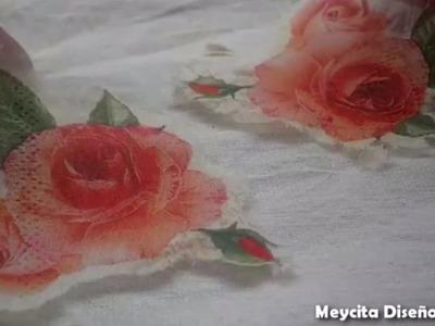 Tutorial: Cómo quitar un dibujo de servilleta para decoupage