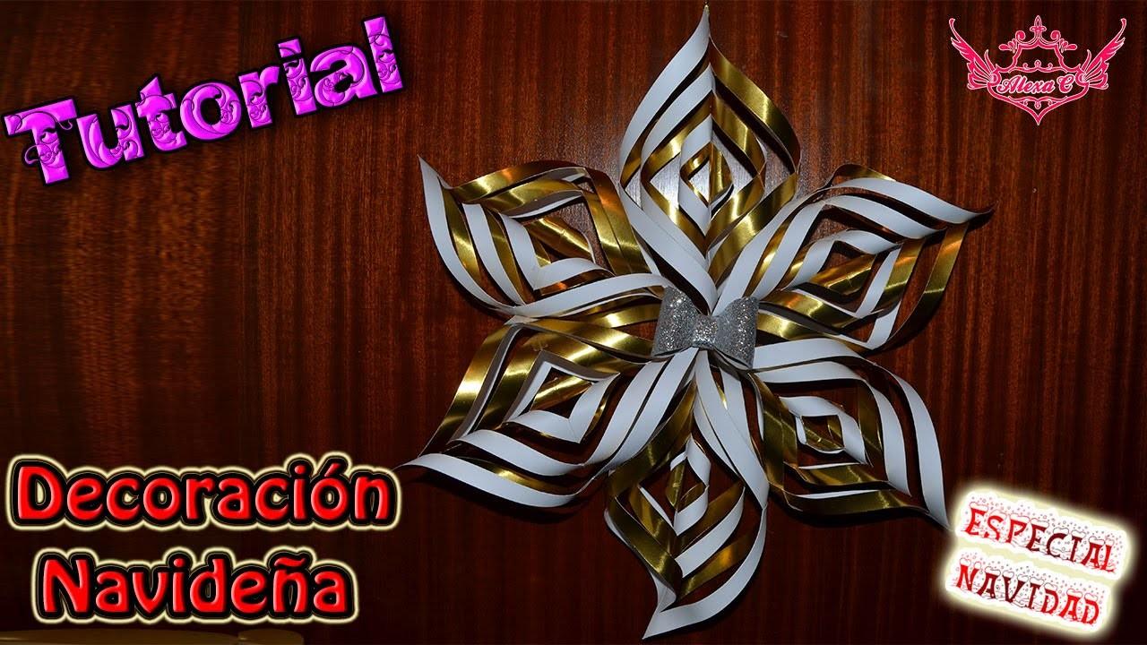 ♥ Tutorial Navidad: Decoración Navideña con cartulina o papel de colores ♥