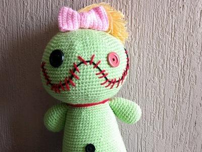 Amigurumi a crochet paso a paso. muñeca a crochet parte #1