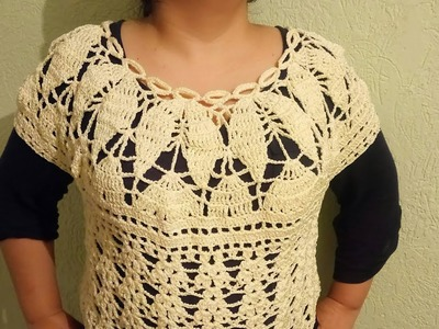 Blusa a crochet paso a paso - fácil y rapido para damas #1