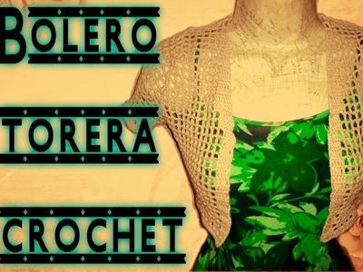 Bolero o torera a crochet PARTE DELANTERA Y ARMADO PASO A PASO by Alexandra Sacasa
