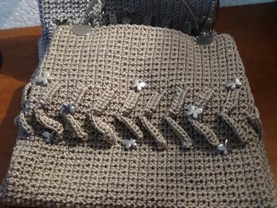 Bolsa tejida a crochet, sencilla y fácil