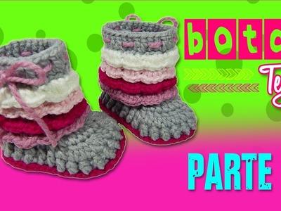 Botas con olanes Tejidas a Crochet | parte 2.2