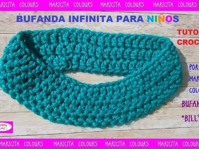 "Bufanda Infinita para Niños ""Billy"" a crochet por Maricita Colours"