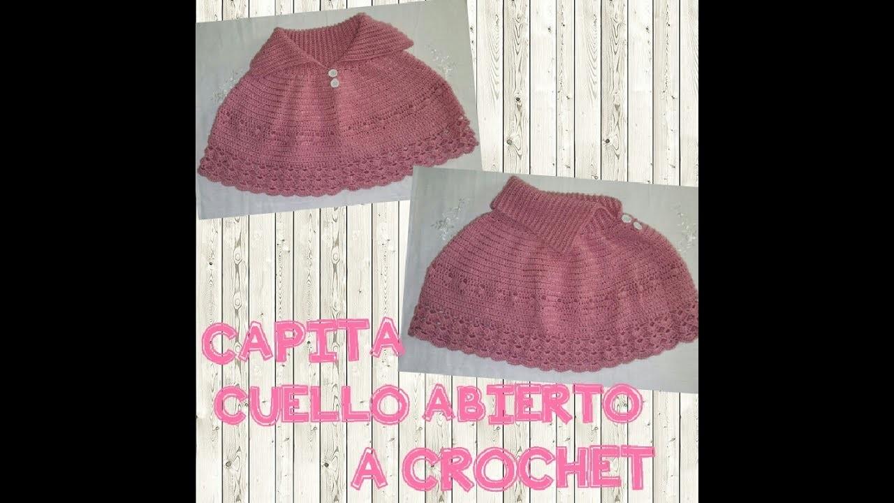 CAPITA CUELLO ABIERTO A CROCHET - Manualidades La Manita Feliz