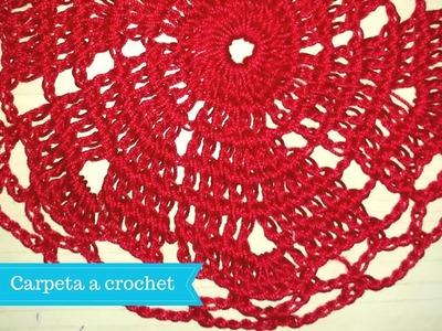 Carpeta o tapete Fácil a crochet  forma espiral paso a paso