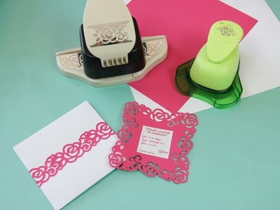 Como decorar sobres y tarjetas - Troqueladoras - Border y Craft Punch New Plenty