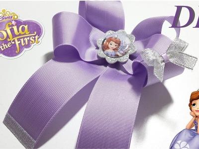 Como Hacer Lazos ???? DIY #113 Lazo en Cinta Inspirado en La Princesa Sofia  Tutorial