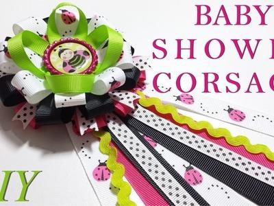 Como Hacer Lazos ???? DIY #119 Baby Shower Corsage Tutorial