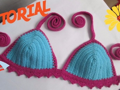 Cómo hacer un traje de baño a Ganchillo. Crochet - Muy Fácil todas las tallas :)