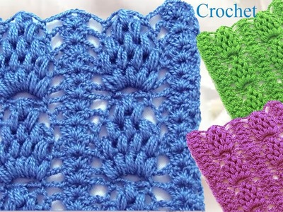 Como tejer punto piña puff a Crochet hermoso y reversible. how to Crochet stitch Pineapple
