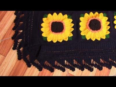 Cuadrado tejido a crochet para colchas y cojines paso a paso en video tutorial