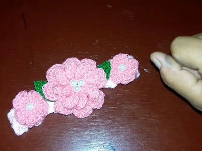 Diadema o tiara para bebe a crochet