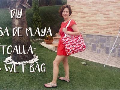DIY - Como hacer una Bolsa y Toalla de playa & Wet Bag