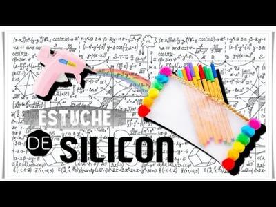 ESTUCHE TRANSPARENTE ♡ SILICON CALIENTE | DIY | Regreso a clases  FACIL!!