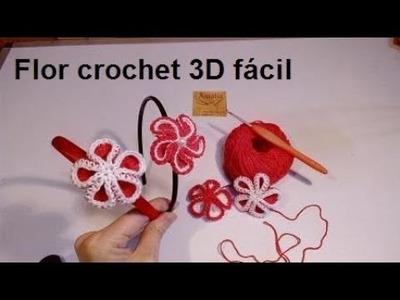 Flor 3D crochet fácil