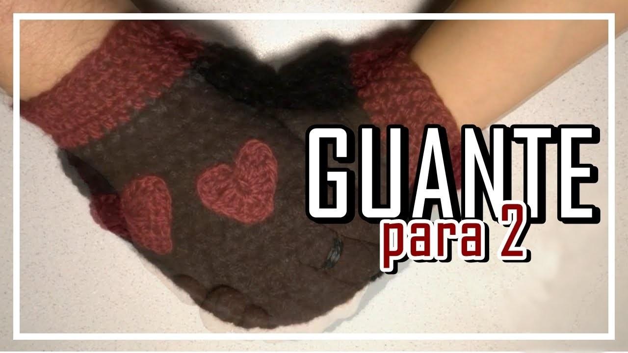 Guante para 2 Crochet,  Ganchillo Paso a Paso. Glove for 2. Handschuhe für 2. LANA WOLLE