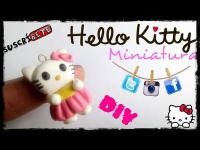 Hello Kitty  Arcilla polimerica | Fimo | Polymer Clay | Plastilina | Porcelana fria | Miniatura