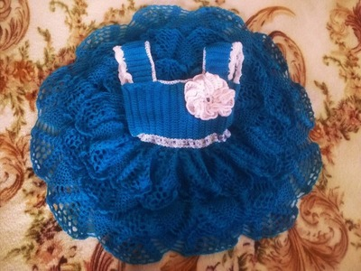 Ideas de vestidos con olanes tejidas a crochet