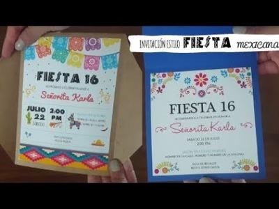 INVITACIÓN estilo Fiesta Mexicana | Ideas DIY para fiestas TUTORIAL