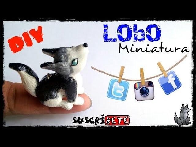 Lobo Miniatura. Arcilla Polimerica. Tutorial. DIY